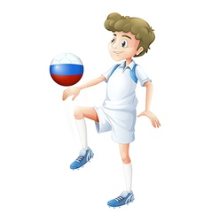 A soccer player from Russia vector image