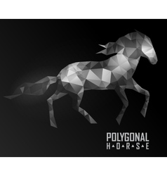 Abstract polygonal horse Geometric hipster vector image