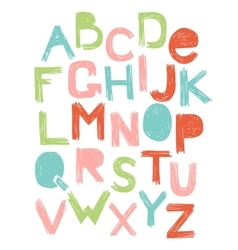 Alphabet scratch color vector image