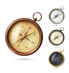 Antique compass set vector image