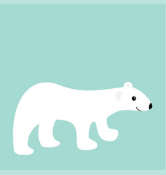arctic polar white bear cub cute cartoon baby vector image