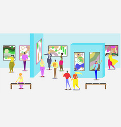 Art gallery poster web banner template vector