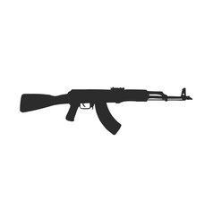 Assault rifle doodle style rifle sketch vector