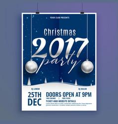 Beautiful christmas poster flyer design template vector