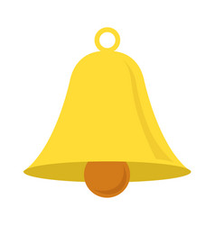 Bell icon isolated vector