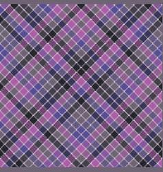 Blue purple check mosaic plaid seamless fabric vector