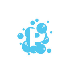 bubble with initial letter p graphic design vector image