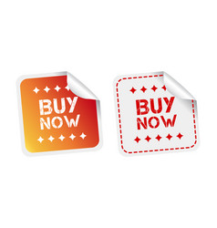 buy now stickers on white background vector image
