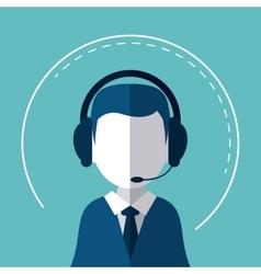 Call center technical service design vector