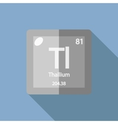 Chemical element Thallium Flat vector