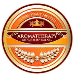 Citrus Essential Oil Aromatherapy Label vector image