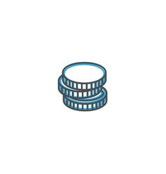 coin icon line design business icon vector image