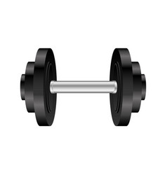 colorful silhouette with dumbbell for training in vector image