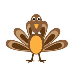 Comic turkey icon vector
