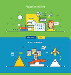 concepts for project management and career growth vector image