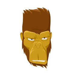 cool monkey logo design ape vector image