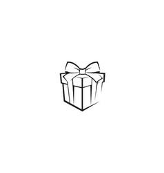 creative gift box abstract logo vector image