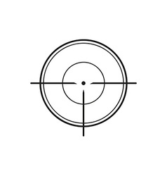Crosshair on white background vector