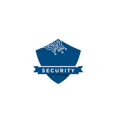 Cyber security template vector