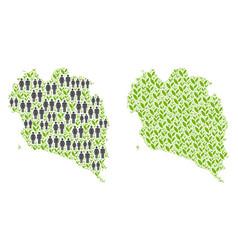 Demographics and floral koh phangan thai island vector