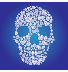 Diamond skull vector