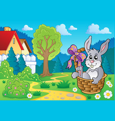 Easter bunny topic image 4 vector