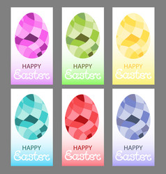 Easter eggs in a polygonal style vector