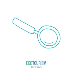 Ecotourism design element isolated on white vector
