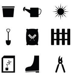 gardening icon set vector image