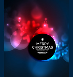 glowing christmas ball and snowflakes vector image