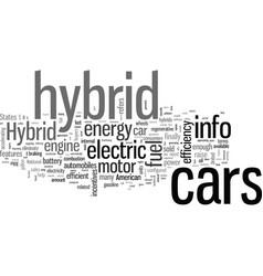 Hybrid cars info vector