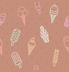 ice cream pattern vector image