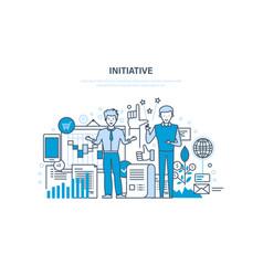 Initiative concept active activity enterprise vector