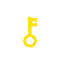 key isolated icon symbol of morgantage isolated vector image