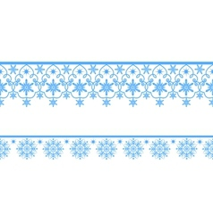 Lace snowflakes vector image