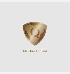 Letter q alphabet logo design template luxury vector