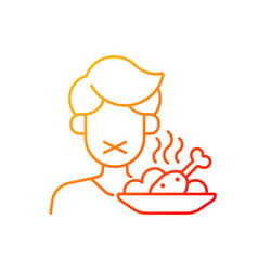 Loss appetite gradient linear icon vector
