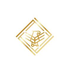 Luxury minimalist logo design for web and eagle vector