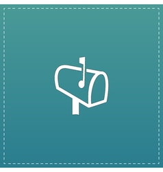 Mailbox flat icon vector