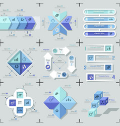 Modern infographic options banner - blue version vector