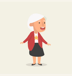 old woman flat cartoon vector image