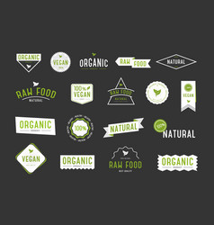Organic labels set collection various logo for vector