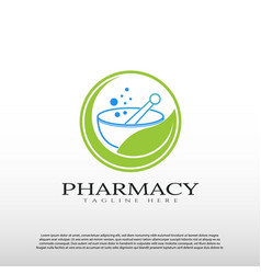 Pharmacy logo design healthcare and medical sign vector