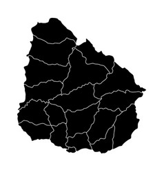 political map of uruguay vector image