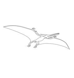 Prehistoric reptile jurassic period pterodactyl vector