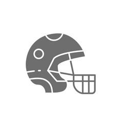 protective sport helmet game equipment grey icon vector image