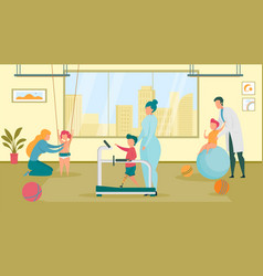 Recreational therapy for kid with special need vector