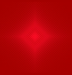 Red symmetrical halftone circle pattern vector