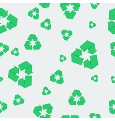 Seamless pattern with recycle icon vector image