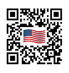 smartphone readable qr code united states vector image